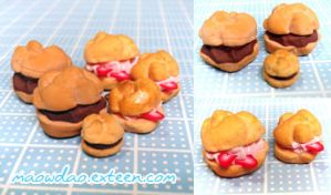 [sweet deco] mini Cream Puffs by MaowDao