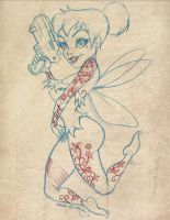 Tinkerbell Gangster by CaziTena