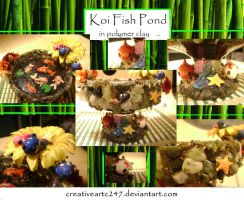 Polymer Clay Koi Fish Pond by creativeartc247
