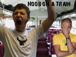 Noob on a Train by RavengerX