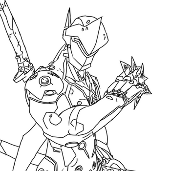 Goldsky12 39 s deviantart favourites for Overwatch genji coloring pages