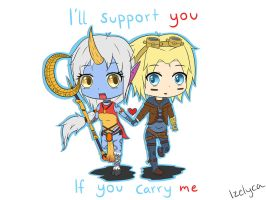 I'll support you if you carry me by Izelyca