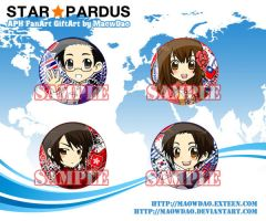 APH : Pins : Asian Series by MaowDao