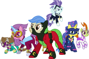 The Real Power Ponies by Lucefudu