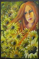 Sunflower girl by Anarchpeace