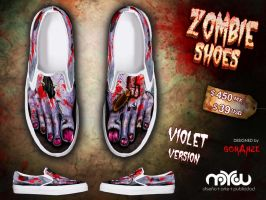 Violet Version- ZOMBIE shoes by corArze