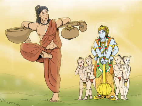 Vishnu and Narada Mumi - Rishi prank by VachalenXEON