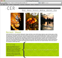 CER Photography Website by cardboardmonet