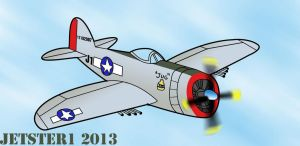 Republic P-47 Thunderbolt Toon by Jetster1
