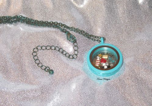 OOAK Wind Waker Floating Charms Locket Necklace by TorresDesigns