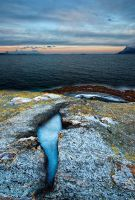 Ice and the fjord... by uberfischer