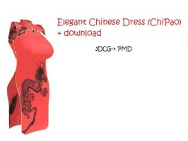MMD elegant Chinese dress by Chibi-Baka-San