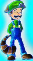 Raccoon Luigi by DigiHopeheart