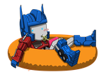 Commission for PurrV - Optimus Chibi by wachey