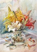 Still life with Lilies by AnMikrAn