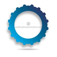 Gear vector public domain by publicdomainvectors