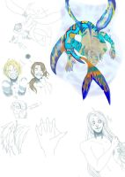 Merman Alfred Sketches by koyuki321
