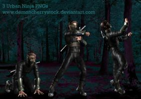 Urban Ninja Stock Pack by DemoncherryStock