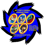 4XEyes1987's Top 5 Sonic Characters by 4xEyes1987