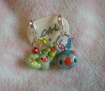 Solosis+Reuniclus charms by Foureyedalien