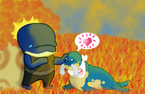 :PKMNSKIES: Fall Pet Festival : New Friends? by SeleneTheWerewolf