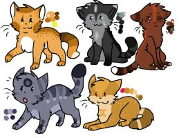 15 point Cat Adopts  OPEN by SillyAdopts