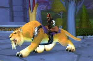 WoW - Myth Mount - GoldenSaber by frisket17