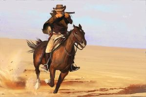 ridin' cowboy by WestStudio