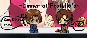 Dinner at Fratellos by Cheezit1x1