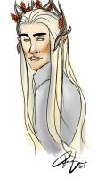 Thranduil painting by RennaLorie