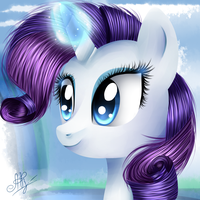 Rarity's portrait. by Ogniva