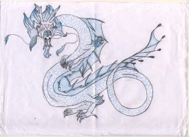 Chinese dragon-blue by dupinema