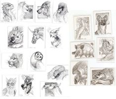 Magic: the Gathering Artist Proof sketches by caramitten