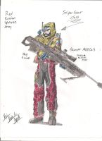 Red Russian Spetsnaz Army - Sniper scout class by BlackKnife12
