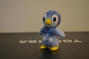 Needle Felted Piplup 2 by feltieflaffy
