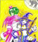 Halloween Love and Beastboy by IsisConstantine