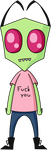 Zim Has a Message For You by InkTheEchidna
