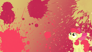 Apple Bloom Splatter Wallpaper by brightrai