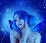 Beautiful Blue Fae by NichelleJNolan