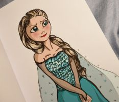 Elsa Sketch by Elliepamp