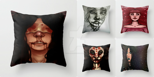 Portrait Pillows (Society6) by Ealaincraft