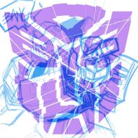 Shattered Glass Bee before Bug by dyemooch