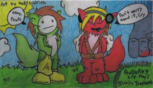 PewDieCry Play Bloody Traplands Colored by ronmart12