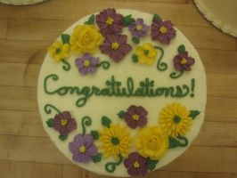 Congratulations Cake by recycledrapunzel