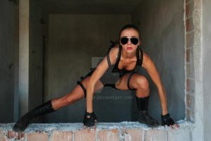 Lara Croft parkour style by Aszap