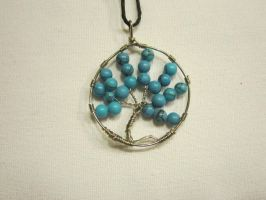 Turquoise Tree Of Life by NikkitheNinja