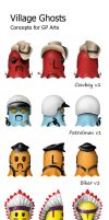 Village Ghosts Concepts by Tommi-75