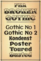 Vintage Poster & Display Font Broken Gothic by Phrostbyte64