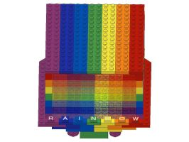 Lego LDraw Project 8: Rainbow Roller (Top View) by mythrilmoth