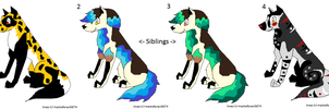Puppy Adoptables CHEAP OPEN by xMaikoWolfx